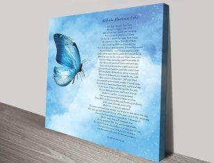 Buy a Custom Poem Print on Canvas