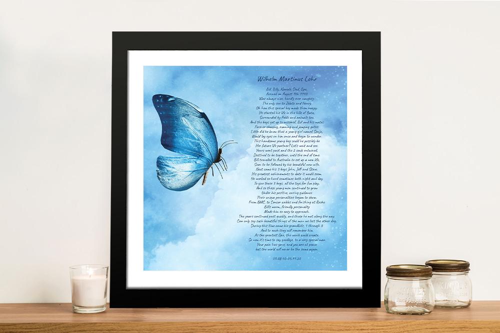 Framed Bespoke Poem Wall Art Great Gifts AU